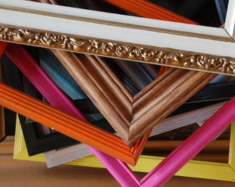 You design your frame package custom order upcycled painted frames