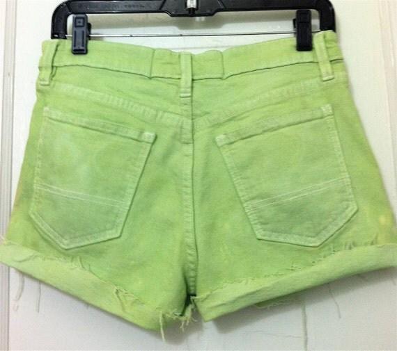 Pastel Green Gap Cut Off Shorts Size 6
