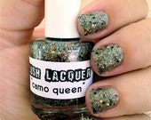 Camo Queen :  Custom-Blended Glitter Nail Polish / Lacquer