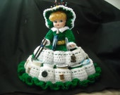 Crocheted Sewing Caddy Doll