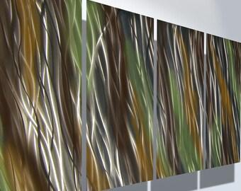 Metal Wall Art Decor Aluminum Abstract Contemporary Modern Sculpture Hanging Zen Textured - Jewel