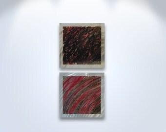 Metal Wall Art Aluminum Decor Abstract Contemporary Modern Sculpture Hanging Zen Textured Nature - 0304