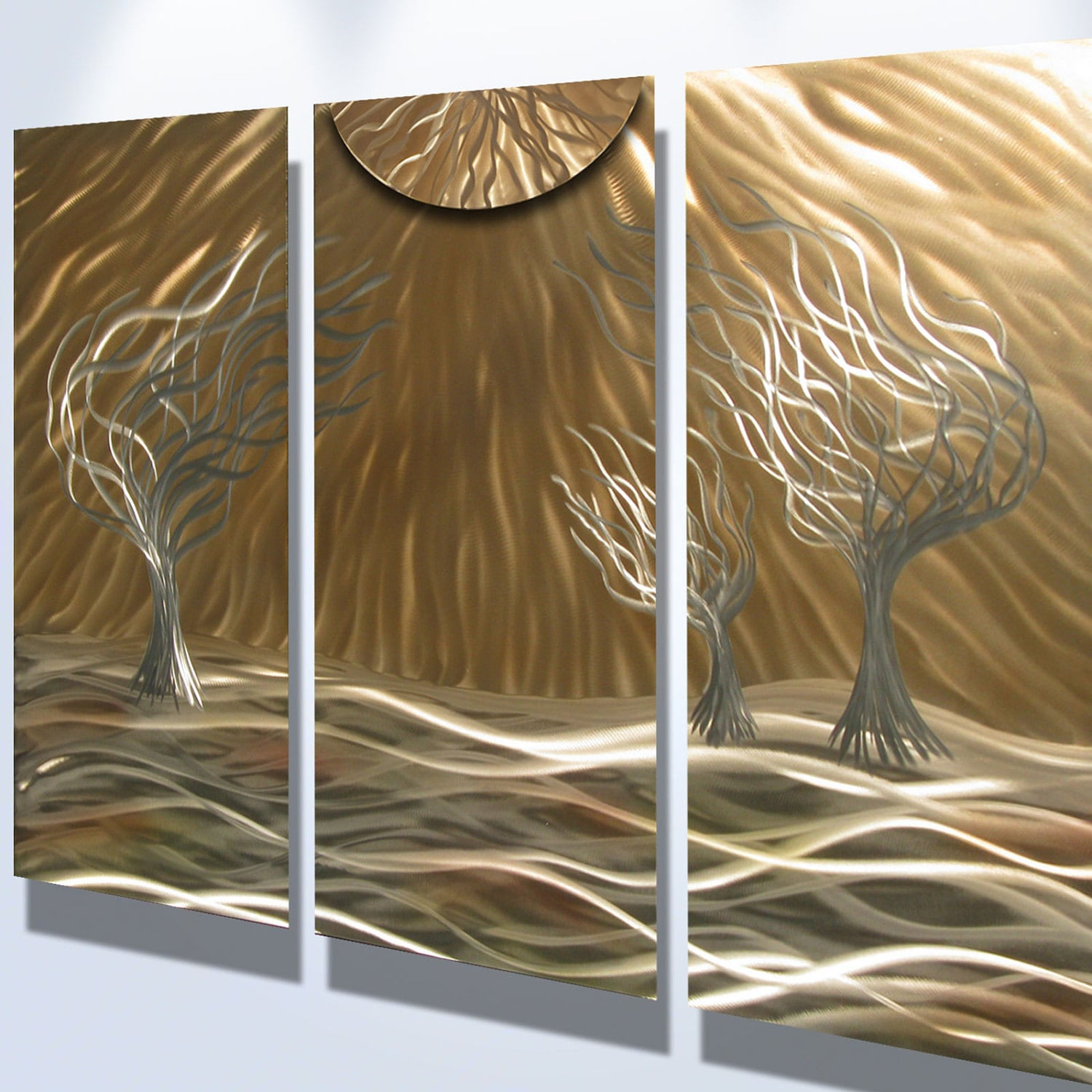 Metal Wall Art Decor Abstract : Metal wall art aluminum decor abstract contemporary modern