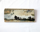 Landscape oil painting on reclaimed Wood
