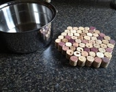 recycled wine cork trivet set of two