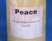 Peace Scented Palm Wax Pillar Candle - Juniper & Lavender - 3 inch x 4 inch