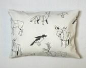 IKEA Charlotta Vild canvas decorative accent pillow throw pillow pillow cover 12 x 16