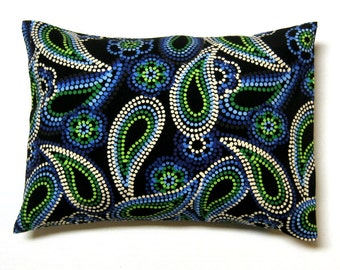 black and pearls corduroy  throw pillow cover 12 x 16
