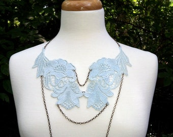 lace necklace OIENNA blue