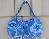 SALE Retro Floral Denim look Handbag
