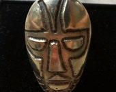 Vintage Tribal Mask Modern Large Ring Adjustable Size