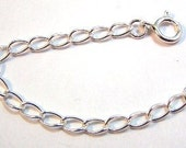 "Sterling Silver 3 1/4"" Necklace Extender with a Spring Ring - Free Shipping in the US -(3166)"