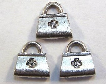 3 Pewter Medical Bag Charms - Free Shipping in the US - (1271)