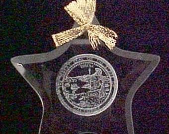 California State Seal - Beveled Glass Ornament