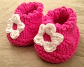 0-9 Months Seamless Baby Flower Booties