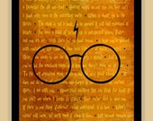 Harry Potter BEST OF Quotes modern print poster