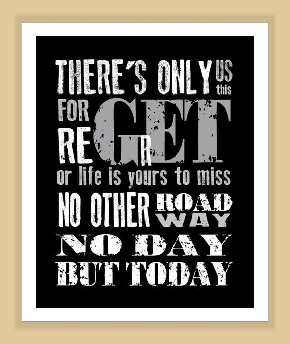 Rent Quotes Inspiration Rent Musical No Day But Today Quote Modern Print Poster