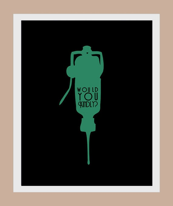 BIOSHOCK Would You Kindly modern print poster