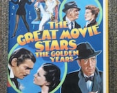 NEW YEARS SALE 75% Off Vintage 1970 'The Great Movie Stars: The Golden Years' Book