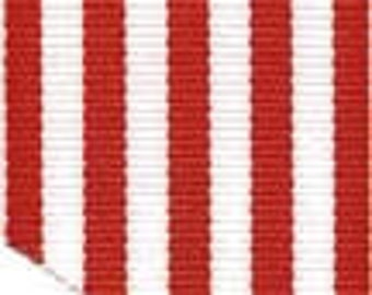 Grosgrain Ribbon - Red and White Stripes - 1.5""