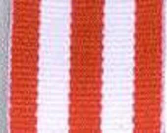 "Grosgrain Ribbon - Red and White Stripe - 7/8"""