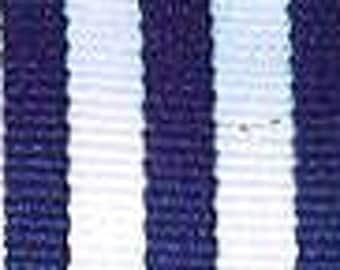 """Grosgrain Ribbon - Navy and White Stripe - 7/8"""""""
