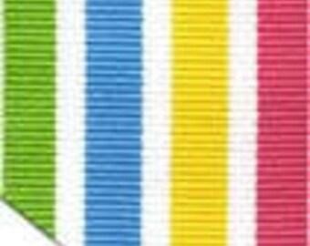 """Grosgrain Ribbon - Caribbean Colors - 1.5"""""""