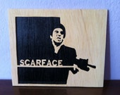 Scarface Tony Montana wooden picture wall art
