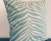 One Set of two Decorative Pillow covers 16''x16'', green and natural