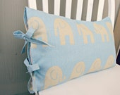 Decorative Pillow cover 12''x18'', Premier Prints Ele Mist, ties on the side