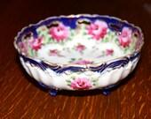 Beautiful Handpainted Nippon Flow Blue Bowl