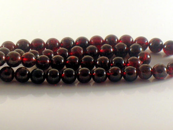 6mm AA Plus Superb Red Garnet Smooth Round Beads 7.5 inch strand For Handmade Jewelry Design