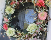 Flower and Butterfly Wreath