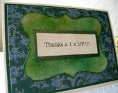 Thanks a Million Fun Math Thank You Card