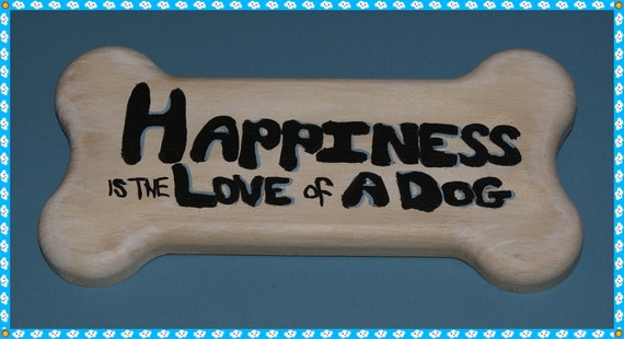 Wooden Dog Bone Plaque, 10% Goes To Rescue