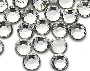 1440pcs Flatback Crystal Rhinestones in Supreme Quality - SS12 3mm Clear White