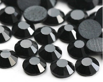 1440 pcs SS8 (2.4mm) High Quality Crystal Flatback Rhinestones - 2028 Jet Black 280 No Hotfix