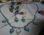 Blue/ Clear, Leaves for Summer, Glass Beading Set
