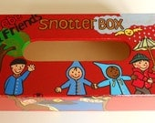 Snotter box: Perfect for little dirty noses - Wooden Tissue box (length 10.2 / width 5.3  / height 2.8 inch)