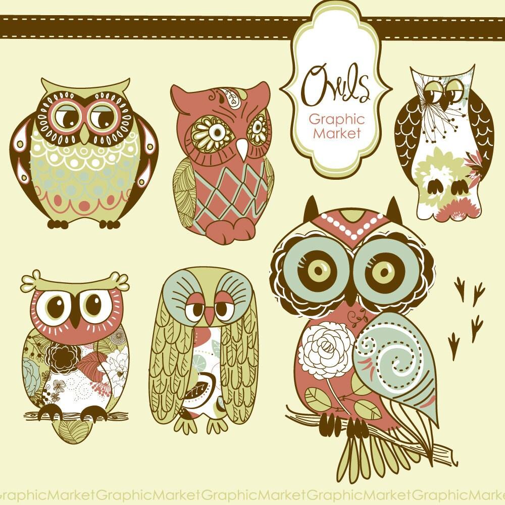 Vintage Owl Background...