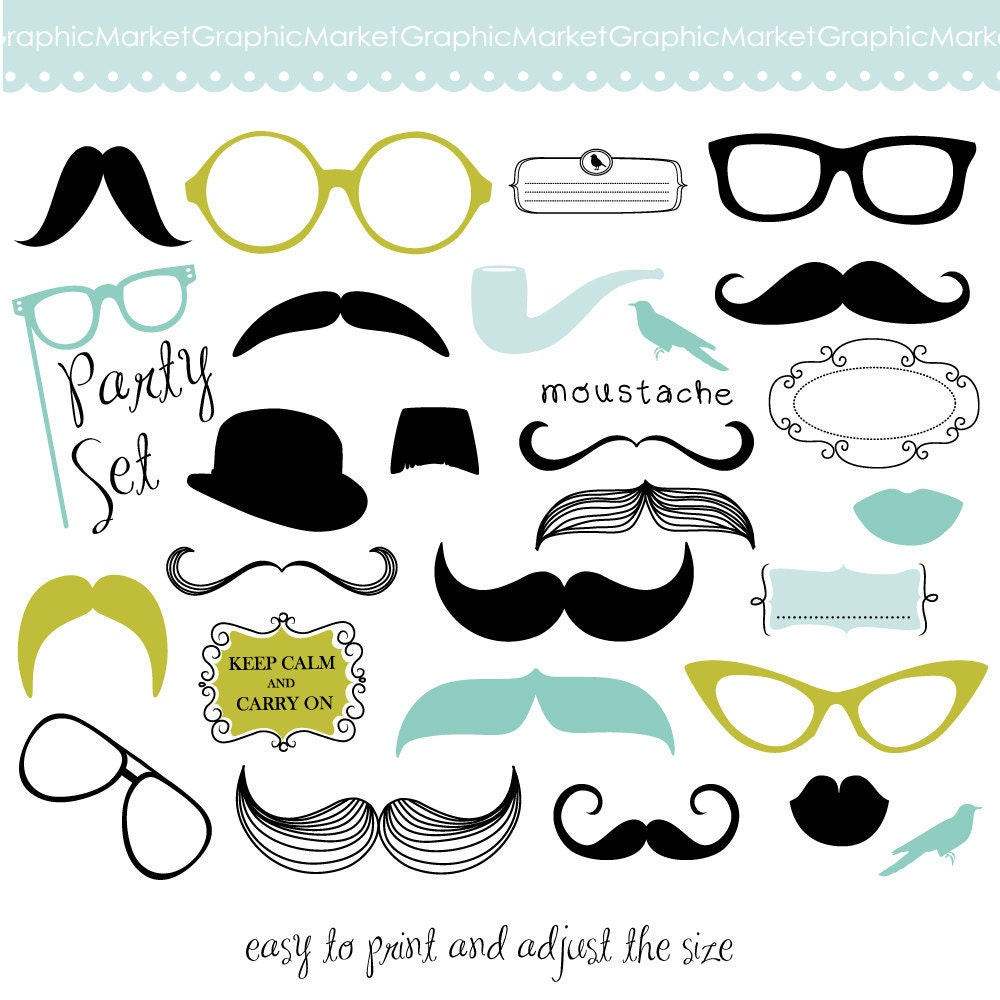 Moustache Party Invitations for awesome invitation layout