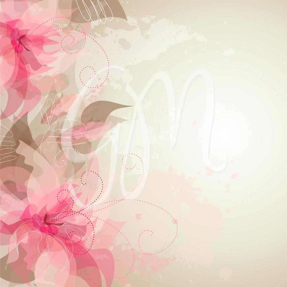 wedding digital floral card for wedding invites by