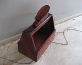 Repurposed Wood Shoe Shine Box