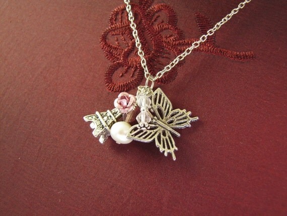Sale - Reduced To Clear - Kitsch 'Flights of fancy' Necklace