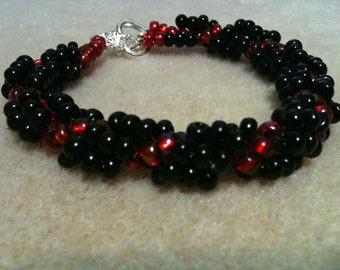 Beautiful delicate glass beads bracelet