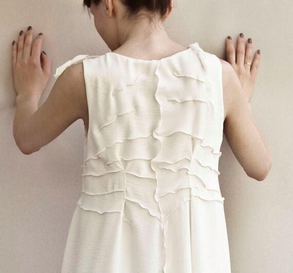 Bridesmaids dress - Bohemian style dresses - Ivory white light beige