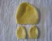 Hat and mitts set baby