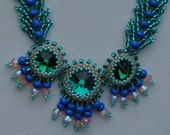 emerald rivoli necklace and earrings (#3)