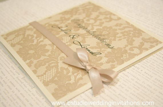 Congratulations Wedding Card (Dusty Pink)- square size, personalized handmade card