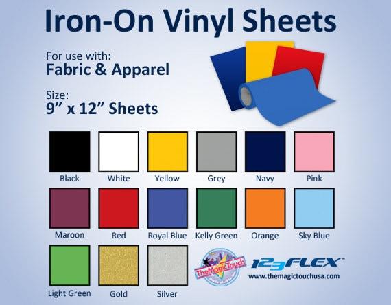 123flex Heat Transfer Tshirt And Apparel Vinyl 9 X